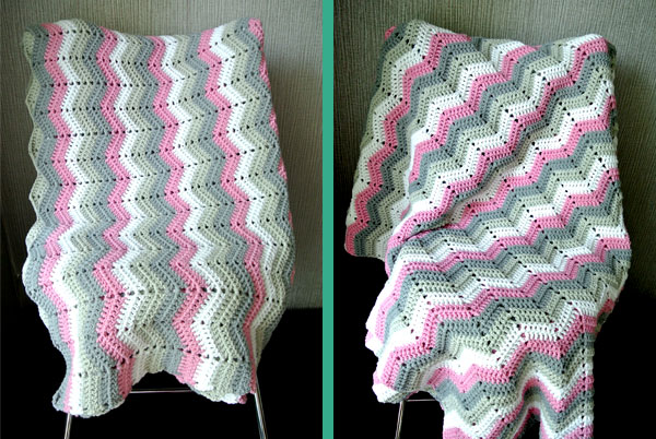 Crochet Tutorial Zigzag : Zig-Zag Blanket Tutorial Beautiful Crochet Stuff