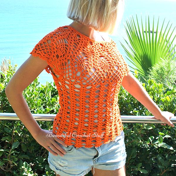 Pineapple Crochet Top Pattern-