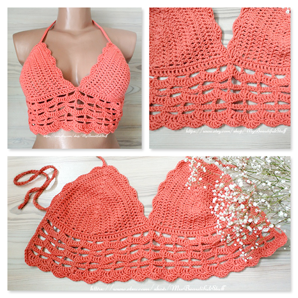 Crocheting Stuff : Crochet Bralette Top Pattern Beautiful Crochet Stuff